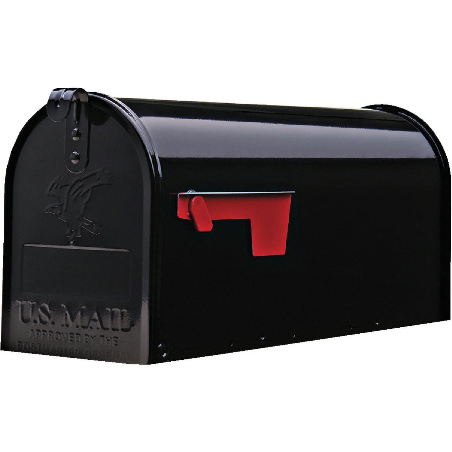Gibraltar Elite Series T1 Black Steel Rural Post Mount Mailbox Image 2