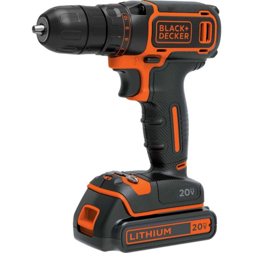 Black & Decker 20 Volt MAX Lithium-Ion 3/8 In. Cordless Drill Kit
