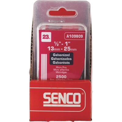 Senco 23-Gauge Galvanized Pin Nail, 1/2 In. to 1 In. Assorted (2500 Ct.)