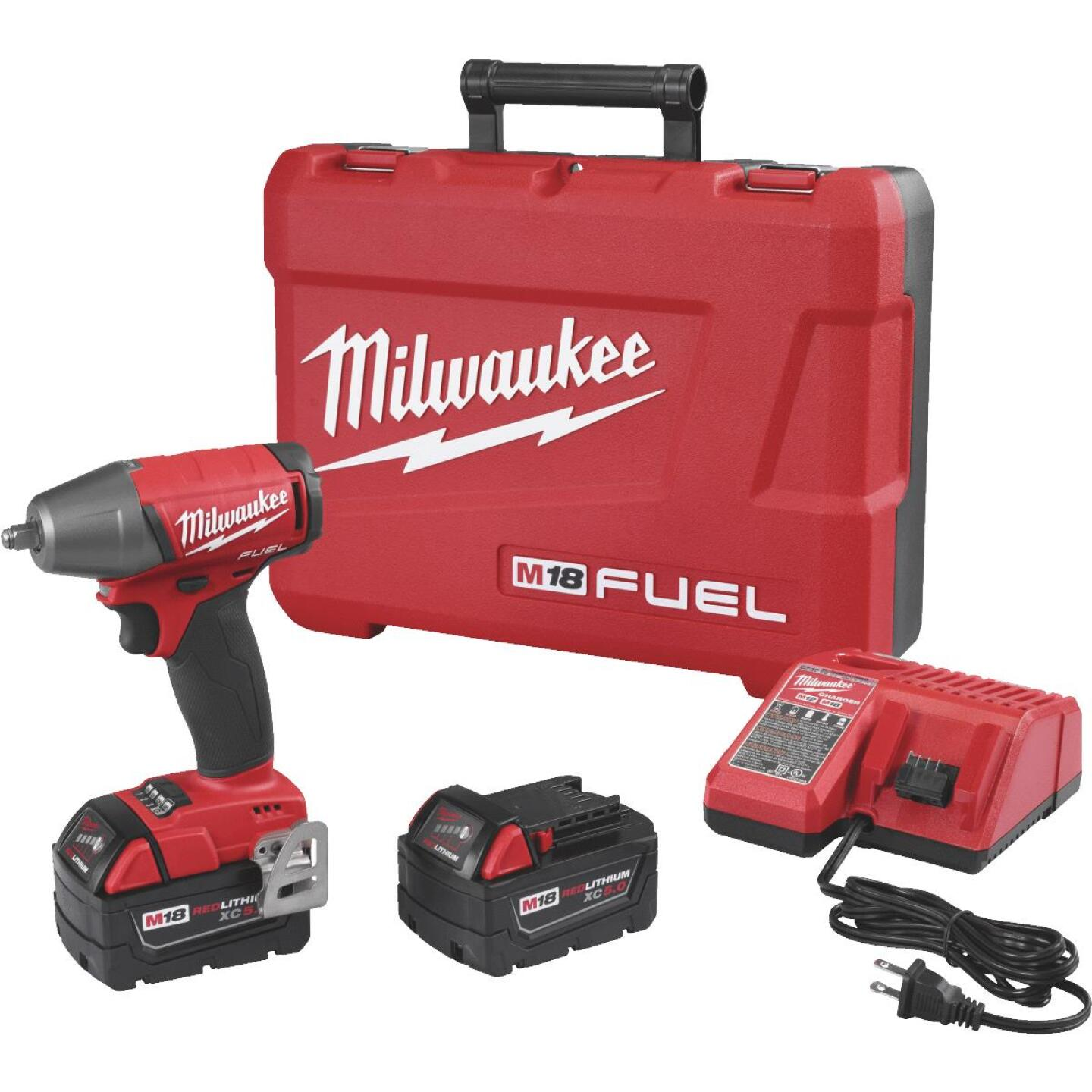 Milwaukee M18 FUEL 18 Volt Lithium-Ion Brushless 3/8 In. Compact Cordless Impact Wrench with Friction Ring Kit Image 1