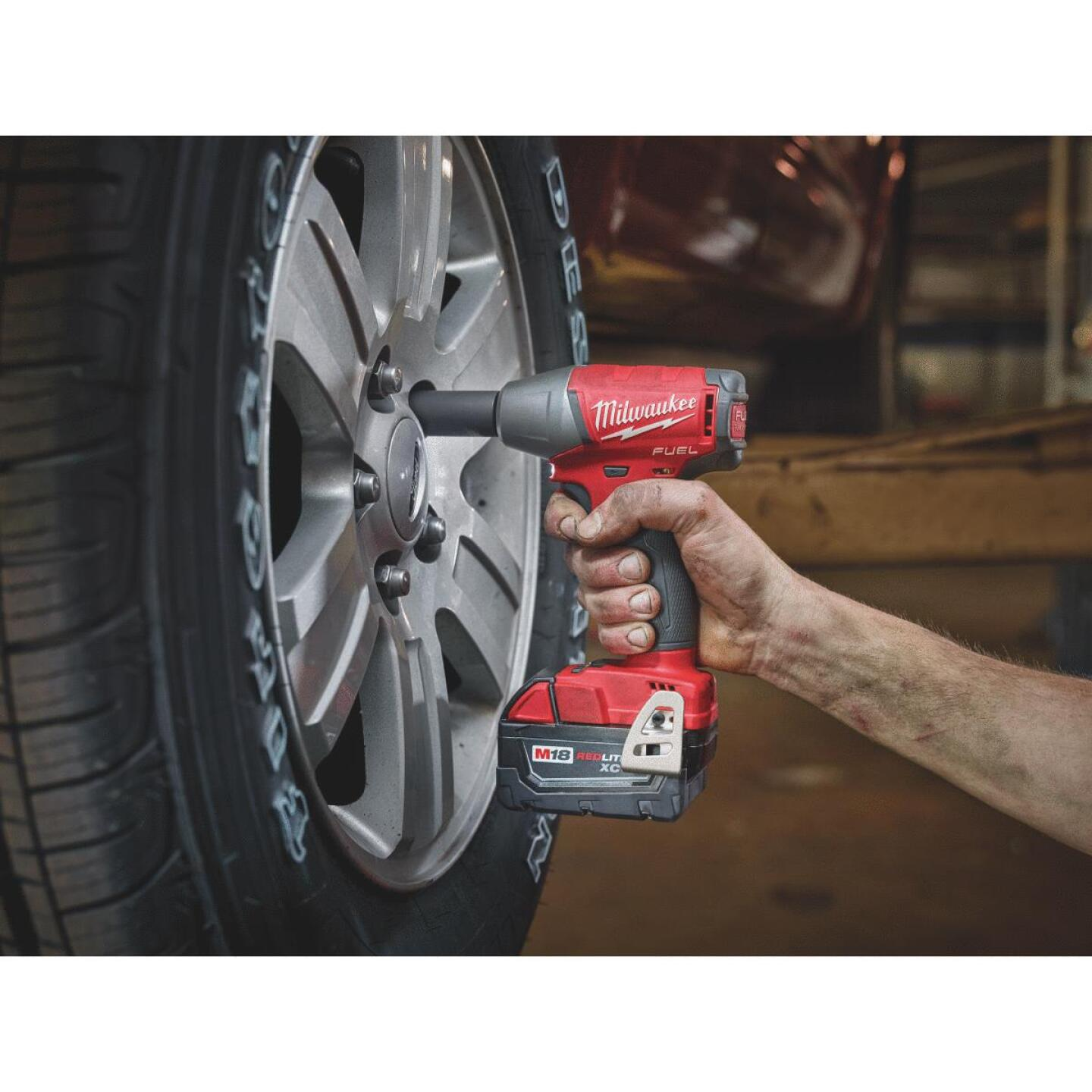 Milwaukee M18 FUEL 18 Volt Lithium-Ion Brushless 3/8 In. Compact Cordless Impact Wrench with Friction Ring Kit Image 2