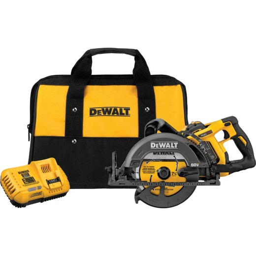 DeWalt Flexvolt 60V MAX Lithium-Ion 7-1/4 In. Cordless Worm Drive Saw Kit
