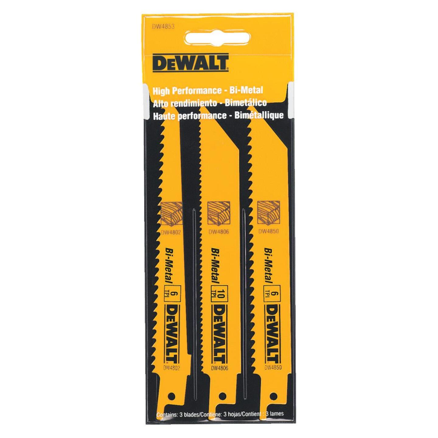 DeWalt 3-Piece Reciprocating Saw Blade Set Image 2