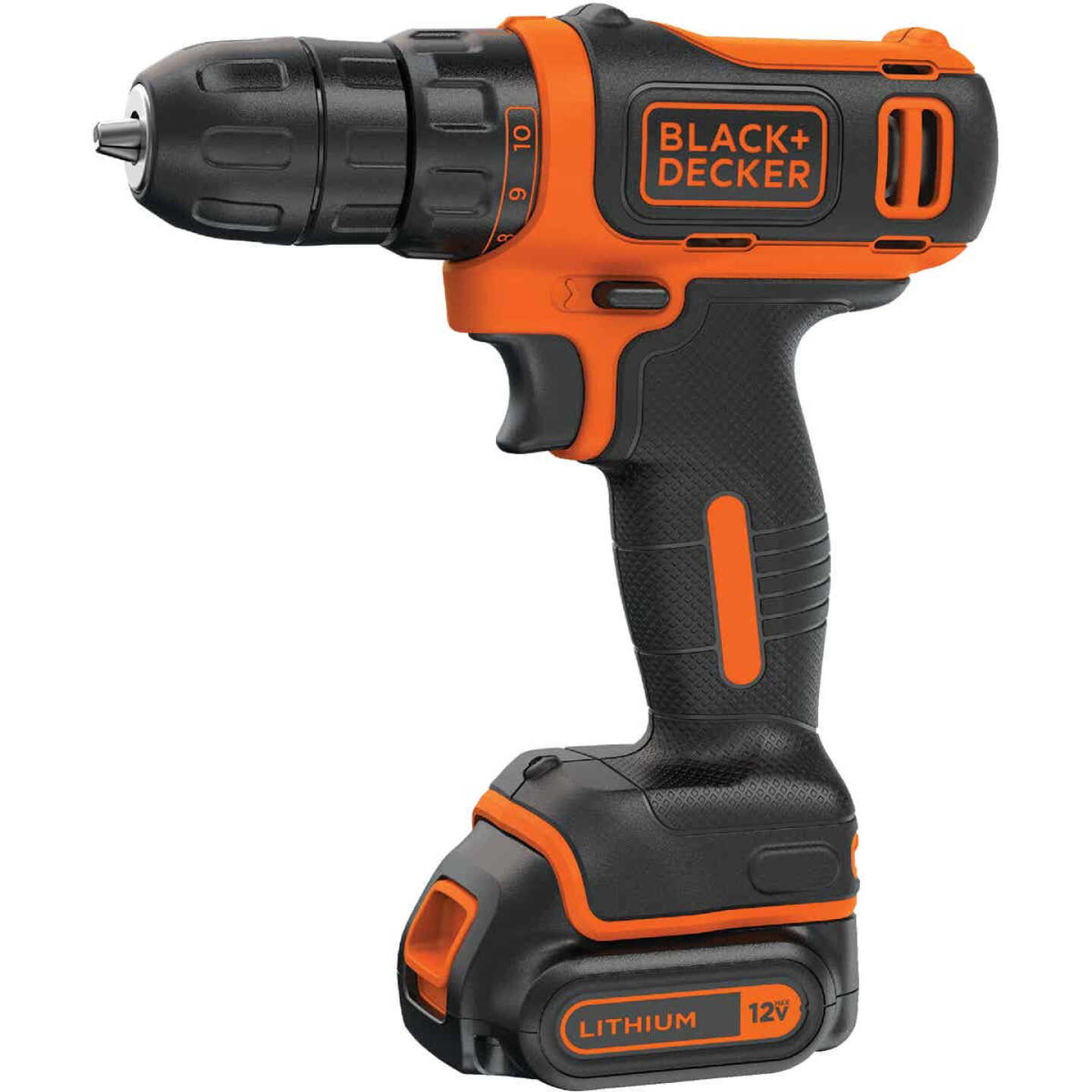 Black & Decker 12 Volt MAX Lithium-Ion 3/8 In. Cordless Drill Kit Image 1