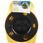 Bayco 25 Ft. of 16/3 Cord Capacity Polypropylene Multi-Plug Cord Reel Image 1