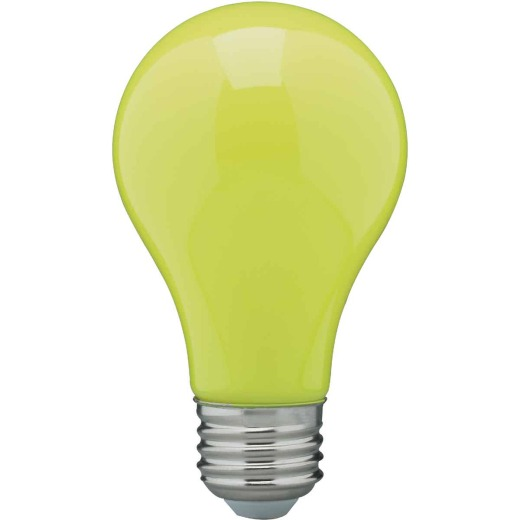 Satco 60W Equivalent Yellow A19 Medium LED Bug Light Bulb