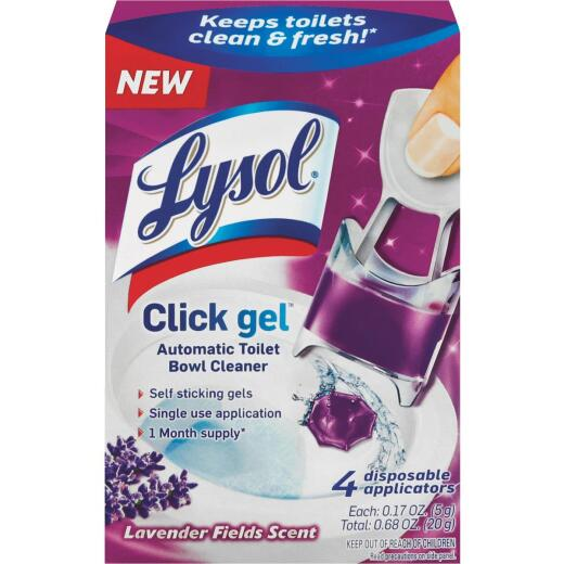 Lysol Click Gel Lavender Automatic Toilet Bowl Cleaner (4-Pack)