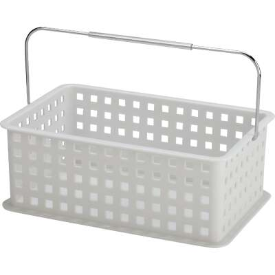 InterDesign Medium White Plastic Basket