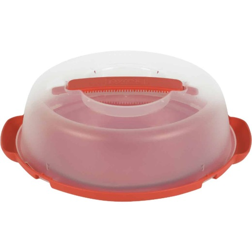 Pyrex Portables Plastic Pie Plate Carrier with Handle