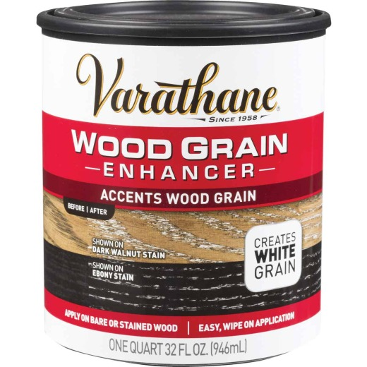 Varathane 1 Qt. Wood Grain Enhancer Finish, White