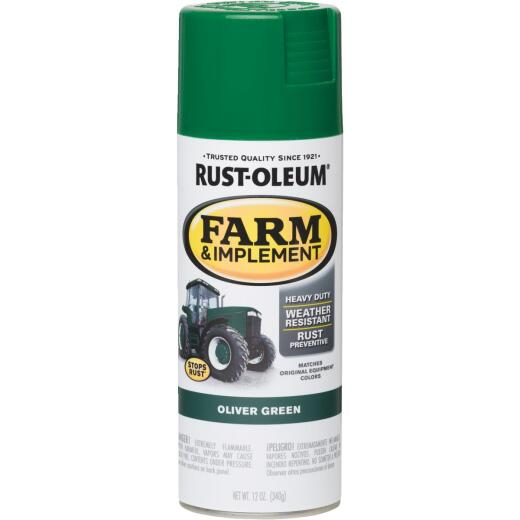Rust-Oleum 12 Oz. Oliver Green Farm & Implement Spray Paint