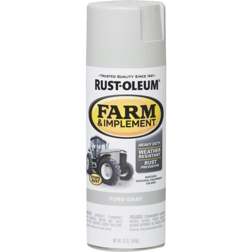 Rust-Oleum 12 Oz. Ford Gray Farm & Implement Spray Paint