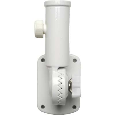 Valley Forge 13-Position 1 In. Aluminum White Flag Pole Bracket