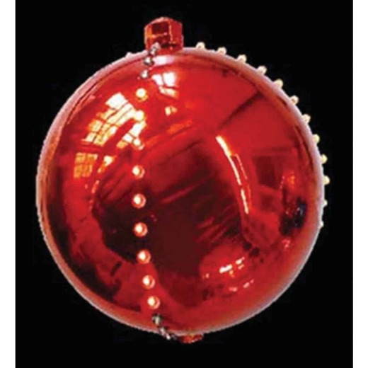 J Hofert 4 In. LED Lighted Red Falling Snowball